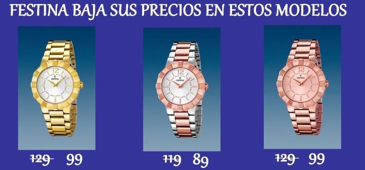 Promoción relojes de moda Festina